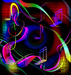 colored image crazy music vector image vector image