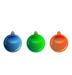 colorful christmas balls vector image