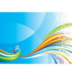 Colors Wave vector image vector image