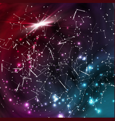 Cosmic constellations background abstract vector