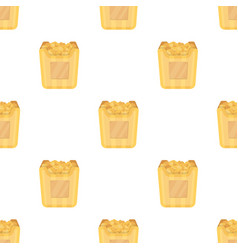 cup in the form of golden popcornthe prize of vector image