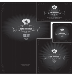 design elements for style restaurant vector image vector image