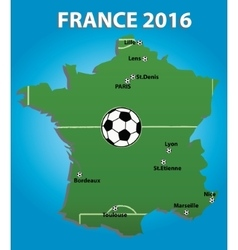 France soccer stadium map vector