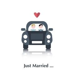Gay marriage icon vector