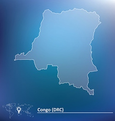 Map of democratic republic of the congo vector