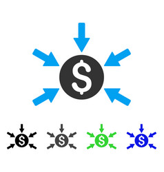 Money income flat icon vector