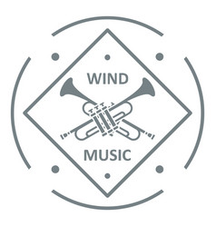 musical trumpet logo simple gray style vector image
