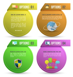 options for four steps with icons vector image