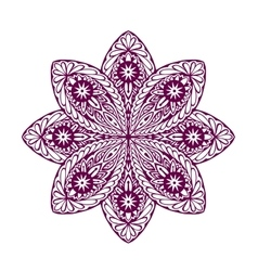 Ornament beautiful ethnic mandala Geometric vector image vector image