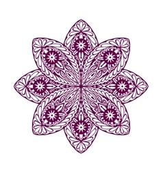 Ornament beautiful ethnic mandala geometric vector