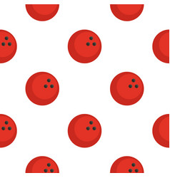 Red marbled bowling ball pattern flat vector