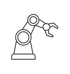 Robotic arm outline icon vector