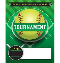 Softball tournament template vector