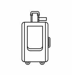 Travel suitcase icon in outline style vector image vector image