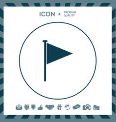 Triangle flag icon vector