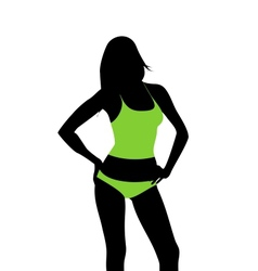 woman clothes template vector image vector image