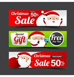 031 Collection of Merry Christmas Santa Claus tag vector image vector image