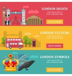 London banner set vector