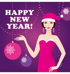 Happy new year greeting card vector image