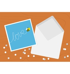 White opened blank envelope letter and greeting vector