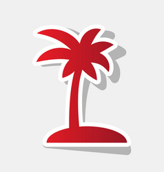 Coconut palm tree sign  new year reddish vector