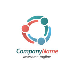 Teamwork community logo vector