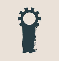 Cog wheel and paintbrush isolated vector