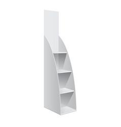 Display rack shelves for supermarket vector