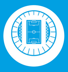 round stadium top view icon white vector image
