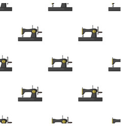 Machine for fast sewing sewing or tailoring tools vector