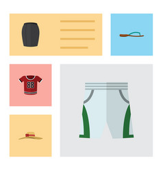 Flat icon clothes set of trunks cloth beach vector
