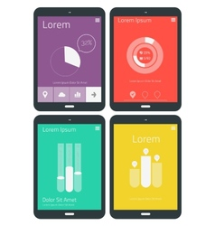 Ui infographics templates vector