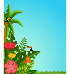 Tropical border vector