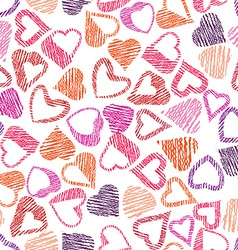 Hears seamless pattern love valentine and wedding vector image