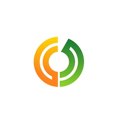 Circle technology communication logo vector