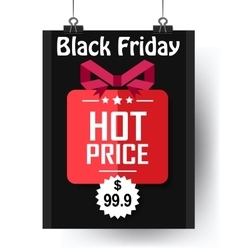 Black friday hot price flyer vector