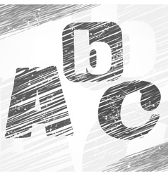 A b c letters vector