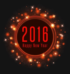 Happy new year text 2016 poster frame of magic vector