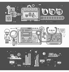 Smart innovation technology vector