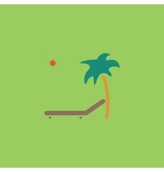 Tropical resort beach sunbed chair - icon vector