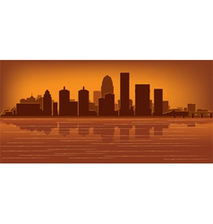 Louisville kentucky skyline vector