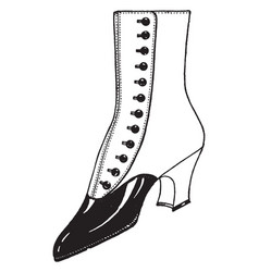 A similar to boots vintage engraving vector
