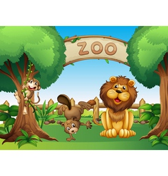 Animals in the zoo vector image vector image