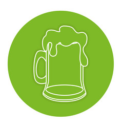 Beer jar celebration icon vector
