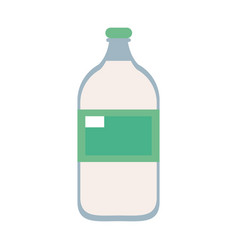 Bottle with blank label icon image vector