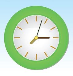 Cartoon Wall Clock vector image vector image