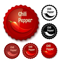 chili banner retro vector image