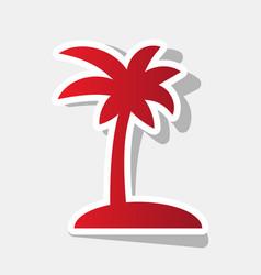 Coconut palm tree sign new year reddish vector