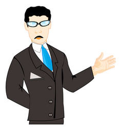 Man in suit with tie vector