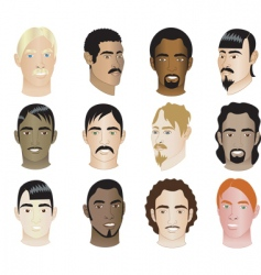 men faces vector image vector image